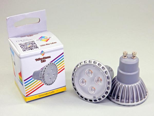 LED Spot 6 Watt GU10 MR16 Vollspektrum Tageslichtlampen natur-nah